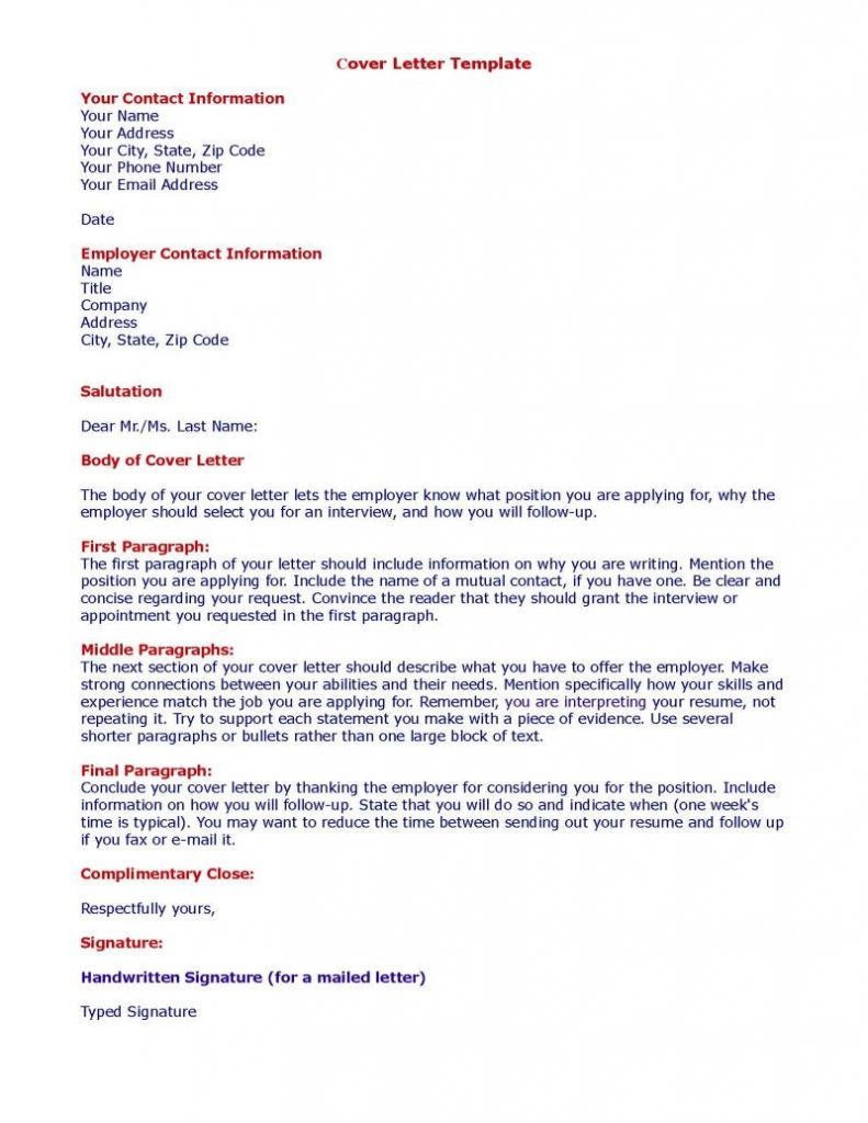 cover letter template figcaption