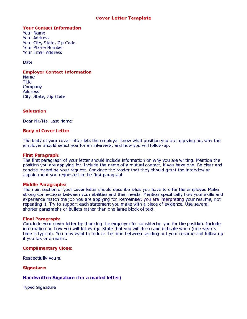 Cover Letter Template /figcaption>