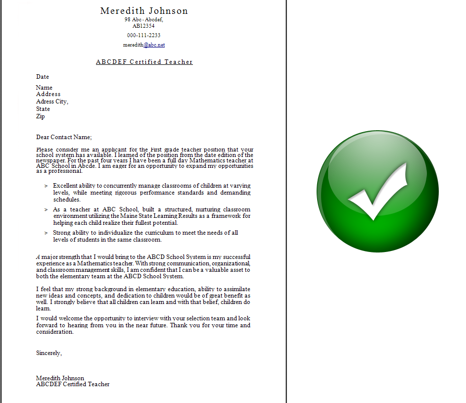 application letter sample Job Application Letter Sample