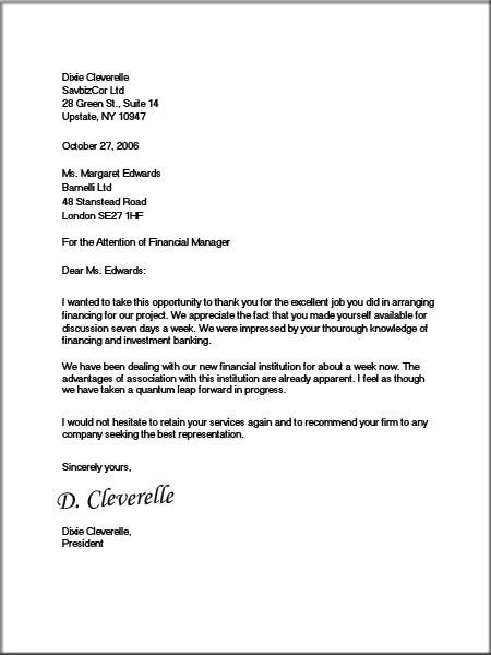 Formal Business Letter Block Format