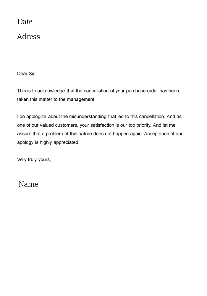 Apology Letters Writing Letter Template