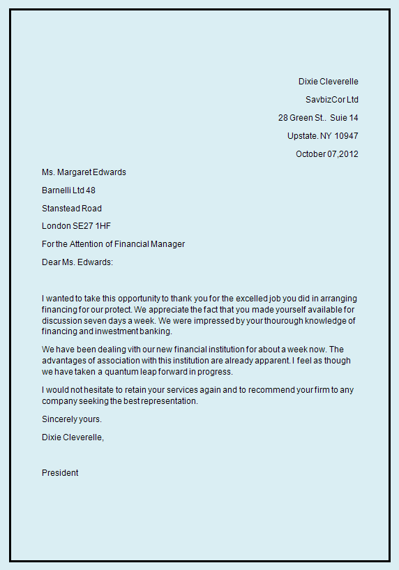 Business Letter Sample Business Letter Format /figcaption>