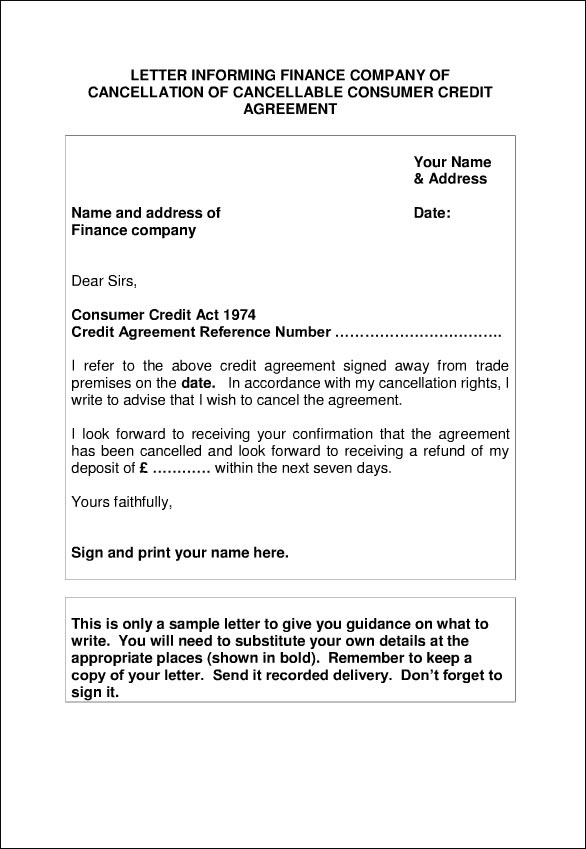 how to write a letter of cancellation  tips  u0026 template  u2022 all docs