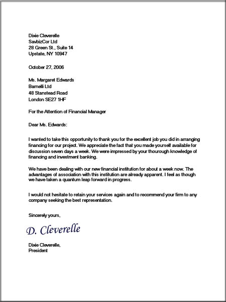 Full Block Format Business Letter Formal Template