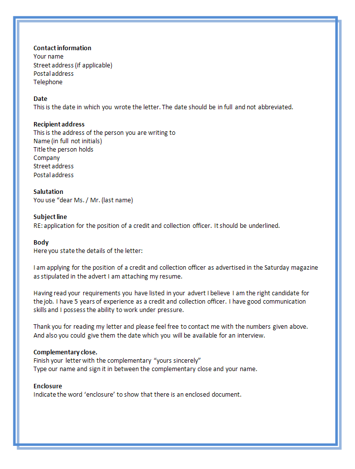 Job Application Letter Sample Doc