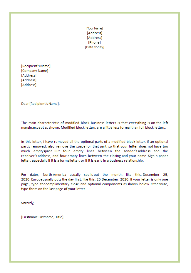 business letter template to whom it may concern cover letter