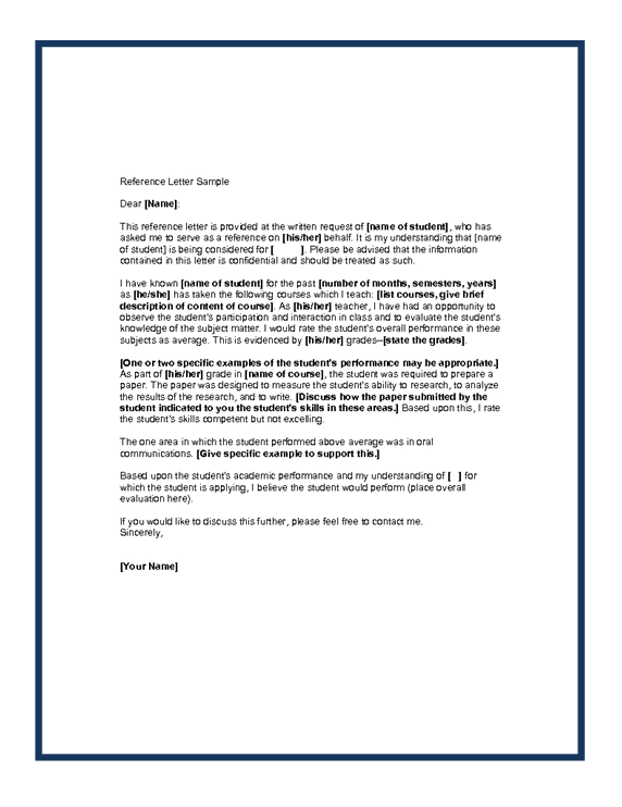 Sample of Recommendation Letter IAdvqv2h