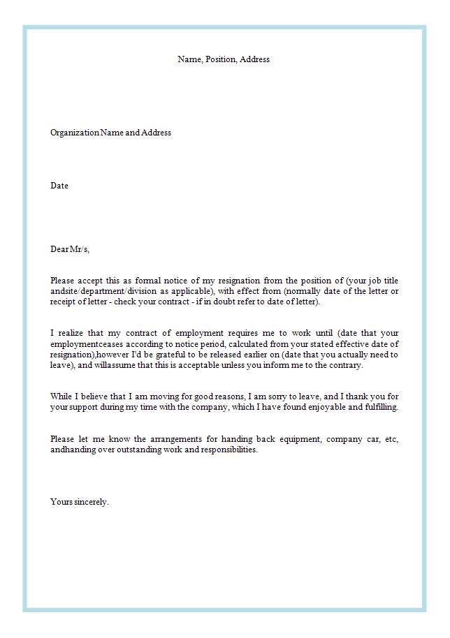 writing a resignation letter sample The new job resignation simple letter template is a perfect and simple resignation letter that browse through resignation letter writing tips and samples.