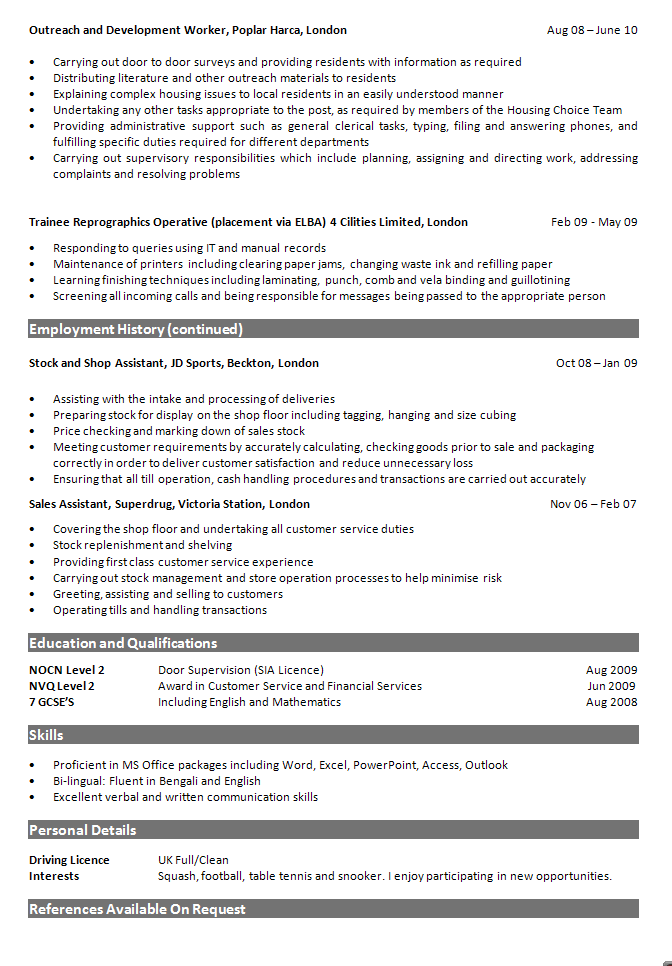 Admin/Receptionist Resume Review