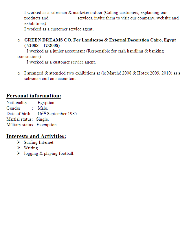 Accountant Resume Sample 03