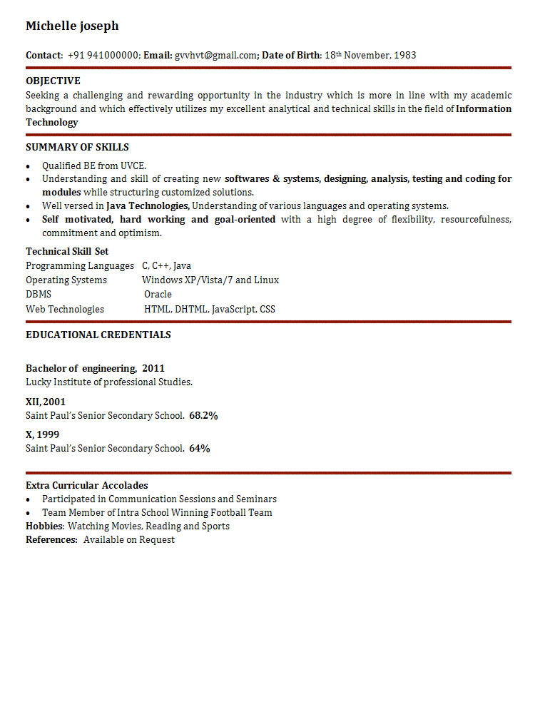 Software Engineer Resume