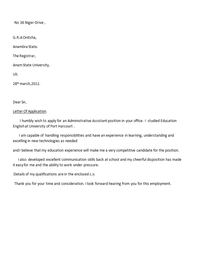 business communication resume cover letter