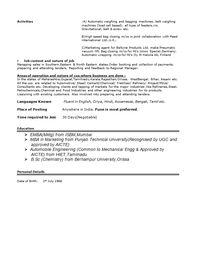Marketing Manager Resume 03