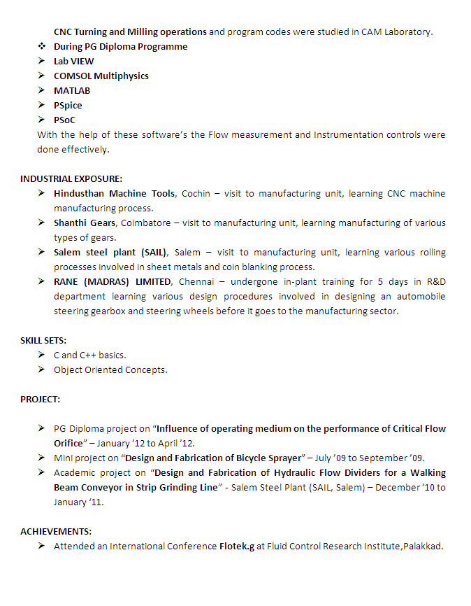 Mechanical Engineer Resume 02