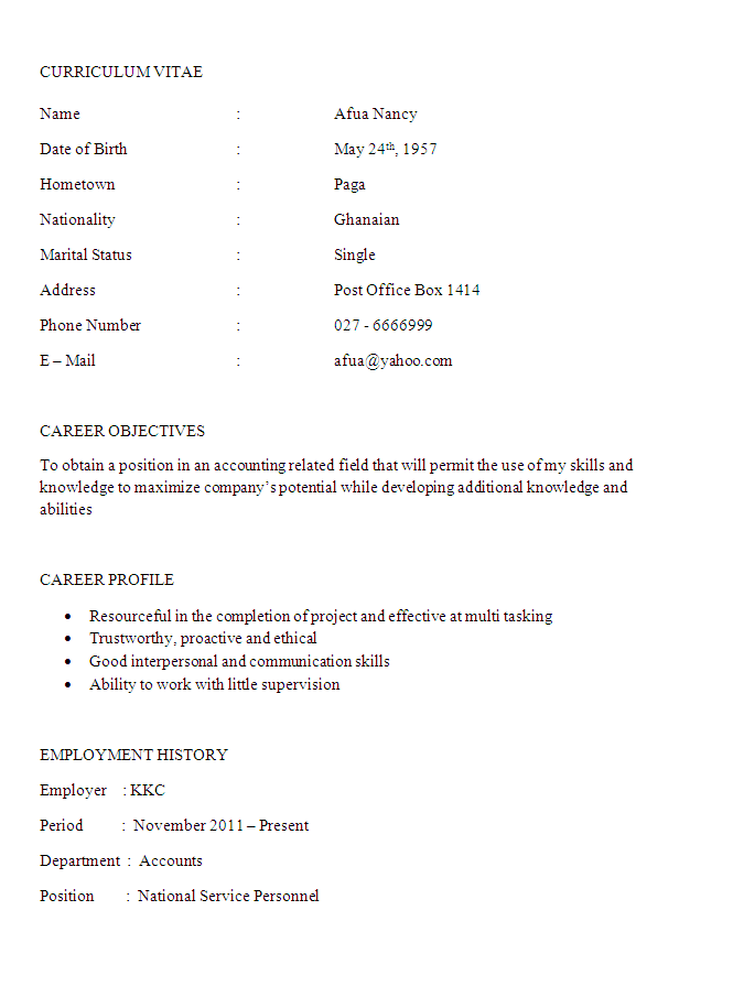 Accountant Resume Example 01