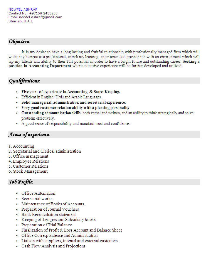 Accounting Cv Sample 01