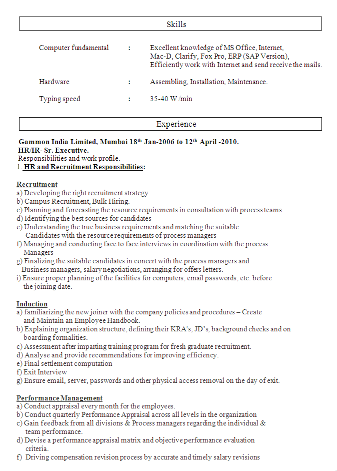 Human Resource Management Cv 02