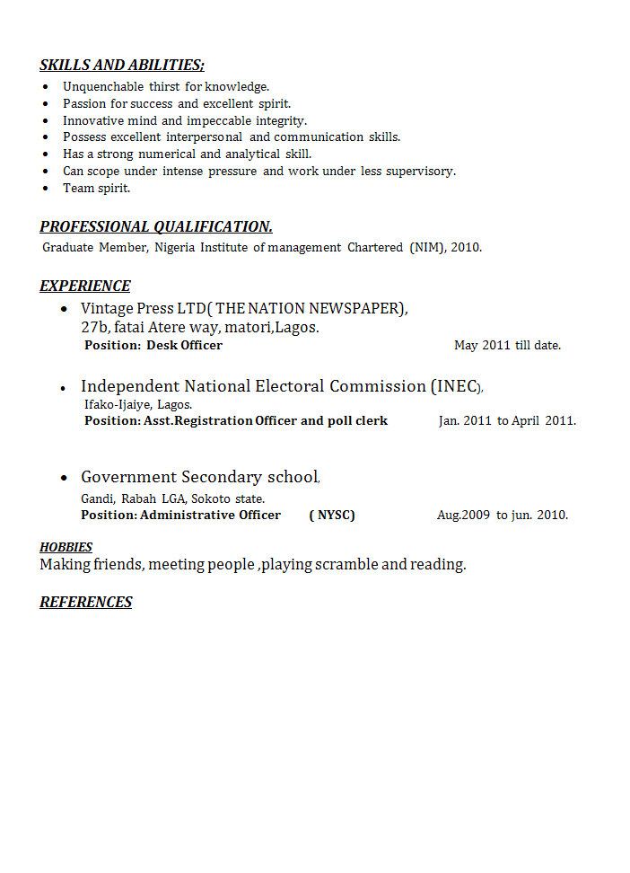 Administrative Officer Resume Review